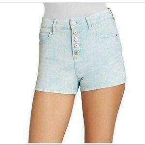 4/$25 Bcbg High waist denim shorts